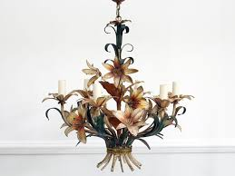 1950s Chandelier A 1950 U0027s French Painted Toleware Floral Chandelier U2013 Streett Marburg