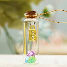 colorful mini clear glass cork stopper wishing bottles vials jars