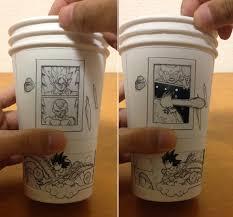 Dragon Coffee Cup Man Creates Dragon Ball Z Animation Using Coffee Cups Geekologie
