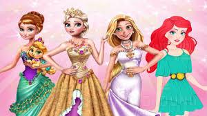 Ariel Clothes For Toddlers Disney Princesses Elsa Rapunzel Anna U0026 Ariel Dress Up And Makeup