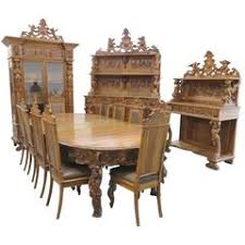 Dining Room Suite Exceptional Quality 1920s Burr Walnut Queen Anne Style Dining Room