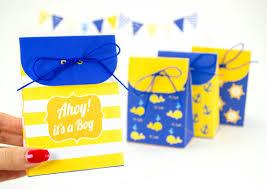 nautical gift bags nautical boy s baby shower favor bags printable pdf gift