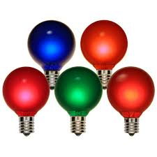 lights g50 satin multicolor 7 watt replacement bulbs