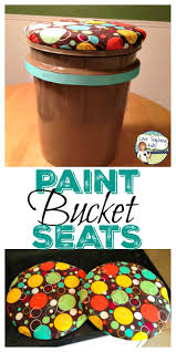 monday made it paint bucket seats diy stool and paint buckets