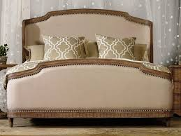 upholstered king wingback bed modern king beds design