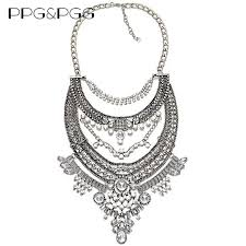 aliexpress necklace pendants images Ppg pgg 2017 vintage statement crystal choker women jewelry jpg