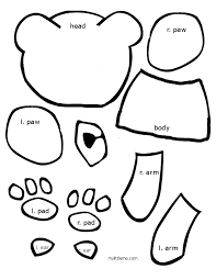best photos of brown bear template polar bear template printable