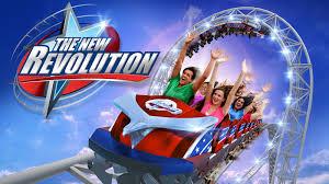 Six Flags Magic Mountain Revolution Restoration To Return Six Flags Magic Mountain Coaster