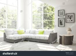 white room sofa scandinavian interior design stock illustration