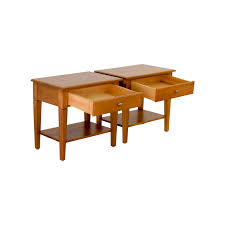 Ethan Allen Coffee Table Glass 37 Off Ethan Allen Ethan Allen Single Drawer End Tables Tables