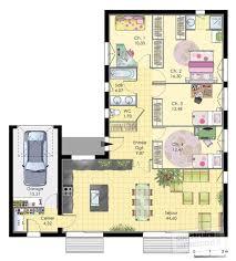 plan maison plain pied 5 chambres beau plan de maison 5 chambres plain pied gratuit 0 pin plan de
