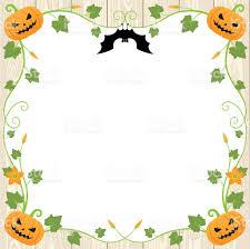 halloween pumpkin frame on wood background stock vector art