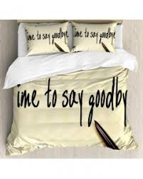 Vintage Duvet Cover Quote Duvet Cover Set Artistic Family Writing With Pillow Sham S