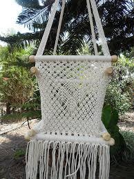 Macrame Hammock Chair Amazon Com Baby Hanging Chair Handmade Macrame Cotton Beige