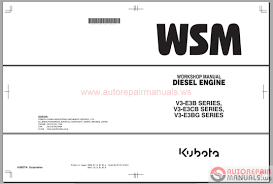 free auto repair manual kubota engines shop manual u0026 parts catalog