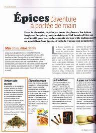 les articles de cuisine la cuisine des épices dans le magazine régal de la cuisine