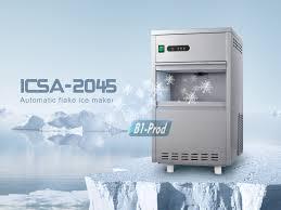 44lbs day flake snow ice undercounter bin maker frozen machine for