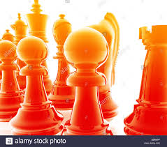 chess set pieces illustration glossy chrome metal style stock