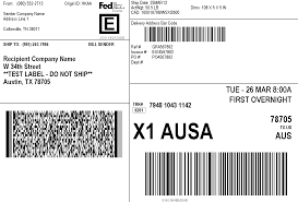 customized fedex shipping label printing shipgenie