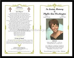 memorial service programs free memorial service program template template