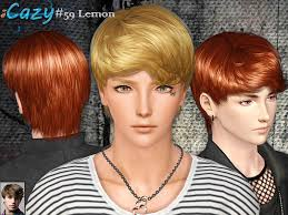 sims 3 men custom content cazy hairmesh 59 set