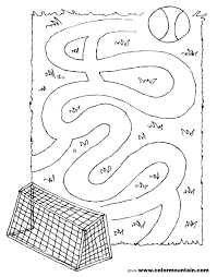 soccer coloring maze page create a printout or activity