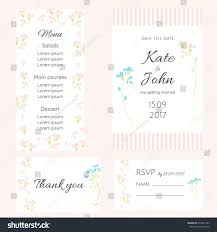 Wedding Invitations And Rsvp Cards Set Gentle Cards Wedding Wedding Invitation Stock Vector 650341969