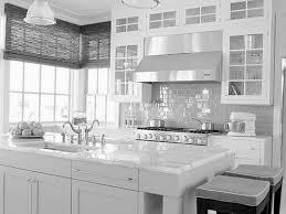 modern home interior design kitchen stone backsplash with white