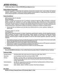 Programmer Resume Sample computer programmer resume u2013 resume examples