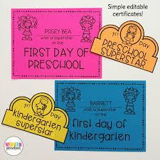 preschool certificates editable welcome to school pack for preschool pre k kindergarten