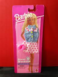 barbie corvette vintage vintage 90s mattel barbie great weekend fashions pink