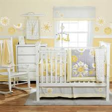 Yellow Gray Nursery Decor Baby Nursery Decor Lots Of Flower Pattern Of Wall Blanket Yellow