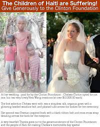chelsea clinton wedding dress children of haiti need help give to the clinton foundation
