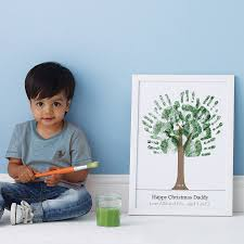 personalised hand print tree poster by love those prints