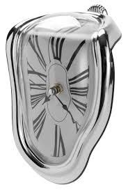 melting desk clock inspired by salvador dali u0027s