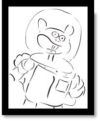 spongebob coloring book plankton spongebob squarepants toon geek pinterest