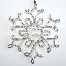 snowflake ornament personalized by wiremajigs on etsy