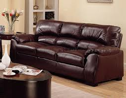 brown leather match contemporary living room sofa w options