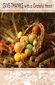 church bulletins for thanksgiving