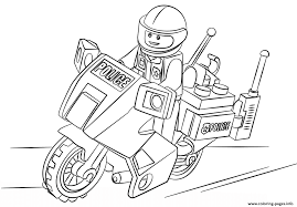 lego moto police car coloring pages printable