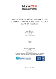 microfinance thesis master in economics of banking and finance 5th thesis valuation of