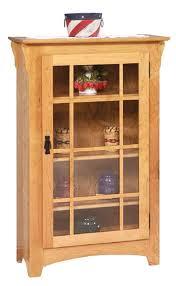 Single Bookcase Single Door Small Mission Bookcase