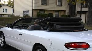chrysler sebring convertible top going up youtube