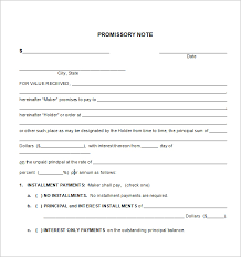 best photos of simply worded promissory note template sample