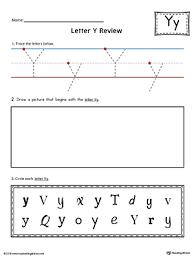 number names worksheets letter y worksheets for kindergarten