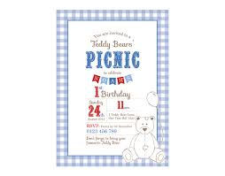 printable custom birthday party invitation template teddy bears