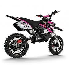 mini motocross racing crx race 50cc mini dirt bike in black pink xtreme toys