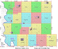 sections townships and ranges harrison county iowa section map townships