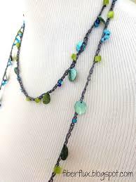 crochet beads necklace pattern images Beach glass crochet necklace crochet jewelry and accessories jpg