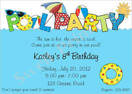 pool party invitations birthday pool party invitation template cloveranddot